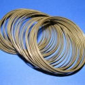 Memóriadrót - karkötő méret (60 mm/LAPOS) - bronz, Gyöngy, ékszerkellék, Egyéb alkatrész, Memóriadrót - karkötő méret - lapos - bronz Különleges, lapos memória karkötő - felnőtt m..., Alkotók boltja