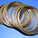 Memóriadrót - karkötő méret (55 mm/1 db) - bronz, Gyöngy, ékszerkellék, Egyéb alkatrész, Memóriadrót - karkötő méret - bronz Különleges memória karkötő - felnőtt méret  Gazdasá..., Alkotók boltja
