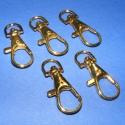 Karabiner (467/A minta/5 db) - 35 mm , , Mindenmás, Karabiner (467/A minta) - arany színben  Alkalmas kulcstartó, póráz stb. készítéséhez. Mérete: 35 m..., Alkotók boltja