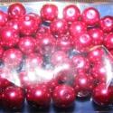 Viaszgyöngy 10mm(bordó), Gyöngy, ékszerkellék, Üveggyöngy, Alkotók boltja