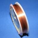 Ékszerdrót 0,6mm(réz/1db), Gyöngy, ékszerkellék, Egyéb alkatrész, Ékszerdrót 0,6mm(réz/1db) Kiváló minőségű,réz színű 0,6mm vastagságú fűzésre alkalmas..., Alkotók boltja