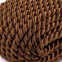 Sodrott zsinór - 5 mm (ZS7903/CS - 1 m) - barna, Fonal, cérna, Ékszerkészítés, Kötés, horgolás, Sodrott zsinór (ZS7903/CS) - barna - Cseh minőség  Színes nylon sodrott zsinór Ajánlott karkötők, n..., Alkotók boltja