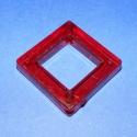 Akril-6 (1 db) - piros négyzet, Gyöngy, ékszerkellék, Műanyag gyöngy, Akril-6 - négyzet keret - piros  Mérete: 35x35x6 mm Furat mérete: 4 mm  Az ár 1 darab termékre vonat..., Alkotók boltja