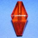 Akril-10 (1 db) - narancssárga , Gyöngy, ékszerkellék, Műanyag gyöngy, Ékszerkészítés, Gyöngy, Akril-10 - narancssárga - különleges forma  Mérete: 45x19 mm Furat mérete: 5 mm  Az ár 1 darab term..., Alkotók boltja