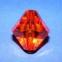 Akril-11 (1 db) - narancssárga kristály, Gyöngy, ékszerkellék, Műanyag gyöngy, Akril-11 - narancssárga - kristály forma  Mérete: 35x30 mm Furat mérete: 5 mm  Az ár 1 darab termékr..., Alkotók boltja