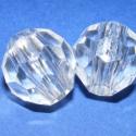 Akril-29 (2 db) - átlátszó szögletes gömb, Gyöngy, ékszerkellék, Műanyag gyöngy, Akril-29 - szögletes gömb - átlátszó  Mérete: 22x20 mm Furat mérete: 2 mm  Az ár 2 darab ter..., Alkotók boltja