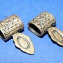 Medálrögzítő (353/G minta/2 db), Gyöngy, ékszerkellék, Egyéb alkatrész, Ékszerkészítés, Szerelékek, Medálrögzítő (353/G minta) - ragasztható - antik bronz színben  Mérete: 24x13 mm A lyuk mérete: 5x8..., Alkotók boltja