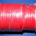 Hasított bőrszíj - 5 mm (2. minta/1 m) - piros, Gyöngy, ékszerkellék, Egyéb alkatrész, Hasított bőrszíj (2. minta) - tekercses - piros  Mérete: 5 mm átmérőjű Valódi hasított marhabőrből k..., Alkotók boltja