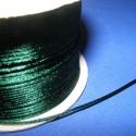 Szatén zsinór - 1 mm (ZS137. minta/5 m) - sötétzöld, Fonal, cérna, Ékszerkészítés, Kötés, horgolás, Szatén zsinór (ZS137. minta) - sötétzöld  Kiválóan alkalmas fonási technikákhoz, nyakbavalók felfüg..., Alkotók boltja