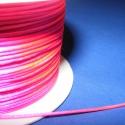 Szatén zsinór - 1 mm (ZS145. minta/5 m) - pink, Fonal, cérna, Ékszerkészítés, Kötés, horgolás, Szatén zsinór (ZS145. minta) - pink  Kiválóan alkalmas fonási technikákhoz, nyakbavalók felfüggeszt..., Alkotók boltja