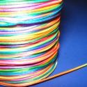 Szatén zsinór - 1 mm (ZS150. minta/5 m) - szivárvány, Fonal, cérna, Ékszerkészítés, Kötés, horgolás, Szatén zsinór (ZS150. minta) - szivárvány  Kiválóan alkalmas fonási technikákhoz, nyakbavalók felfü..., Alkotók boltja