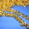 Arany színű lánc (53. minta/0,5 m) - 18x14x3,5 mm, Gyöngy, ékszerkellék, Egyéb alkatrész, Arany színű lánc (53. minta)  A szem mérete: 18x14x3,5 mm  A feltüntetett ár 0,5 méter láncr..., Alkotók boltja