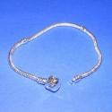 Pandora karkötő alap (217. minta/1 db), Gyöngy, ékszerkellék, Egyéb alkatrész, Pandora karkötő alap (217. minta) - ezüst színben  Mérete: 190 mm/3 mm  Az ár egy darab karkö..., Alkotók boltja