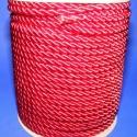 Sodrott zsinór - 8 mm (ZS52SA/1 m) - skarlátpiros, Fonal, cérna, Ékszerkészítés, Kötés, horgolás, Sodrott zsinór (ZS52SA) - skarlátpiros  Színes nylon sodrott zsinór Ajánlott karkötők, nyakláncok k..., Alkotók boltja
