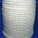 Sodrott zsinór - 6 mm (ZS99S/2 m) - ekrü, Fonal, cérna, Ékszerkészítés, Kötés, horgolás, Sodrott zsinór (ZS99S) - ekrü  Színes nylon sodrott zsinór Ajánlott karkötők, nyakláncok készítéséh..., Alkotók boltja
