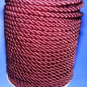 Sodrott zsinór - 8 mm (ZS52S/1 m) - bordó, Fonal, cérna, Ékszerkészítés, Kötés, horgolás, Sodrott zsinór (ZS52S) - bordó  Színes nylon sodrott zsinór Ajánlott karkötők, nyakláncok készítésé..., Alkotók boltja