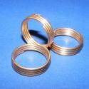Gyűrű/karika (710/A minta/3 db) , Gyöngy, ékszerkellék, Egyéb alkatrész, Gyűrű/karika (710/A minta) - réz színben - 1 mm átmérőjű lágy huzalból tekerve  Mérete: 1..., Alkotók boltja