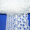 Pamut csipke-15 ( 75mm/3m fehér), Textil, Varrás, Csipke, Pamut csipke-15  (75mm/3m fehér) Kiváló minőségű pamut alapanyagú csipke. Az ár 3 méter anyagra von..., Alkotók boltja