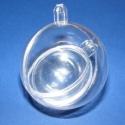 Akril dupla gömb (2 db), Díszíthető tárgyak, Mindenmás, Akril dupla gömb,átlátszó. A gömbök mérete:40mm és 55 mm átmérőjű. A gömb 2 részből állnak,szétszed..., Alkotók boltja