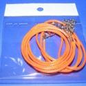 Bőrutánzat nyaklánc alap (7. minta/3 db) - narancssárga, Gyöngy, ékszerkellék, Egyéb alkatrész, Bőrutánzat nyaklánc alap (7. minta) - narancssárga  A szerelékek nikkel színűek. A nyaklánc ..., Alkotók boltja