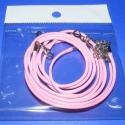 Bőrutánzat nyaklánc alap (14. minta/3 db) - rózsaszín, Gyöngy, ékszerkellék, Egyéb alkatrész, Bőrutánzat nyaklánc alap (14. minta) - rózsaszín  A szerelékek nikkel színűek. A nyaklánc h..., Alkotók boltja