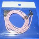 Bőrutánzat nyaklánc alap (12. minta/3 db) - világos rózsaszín, Gyöngy, ékszerkellék, Egyéb alkatrész, Bőrutánzat nyaklánc alap (12. minta) - világos rózsaszín  A szerelékek nikkel színűek. A ny..., Alkotók boltja
