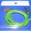 Bőrutánzat nyaklánc alap (2. minta/3 db) - világoszöld, Gyöngy, ékszerkellék, Egyéb alkatrész, Bőrutánzat nyaklánc alap (2. minta) - világoszöld  A szerelékek nikkel színűek. A nyaklánc ..., Alkotók boltja