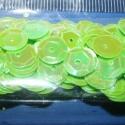 Flitter-19 (3 g) - világoszöld (kerek), Gyöngy, ékszerkellék, Flitter, strassz, Mindenmás, Flitter-19 - világoszöld - kerek  Mérete: 9 mm A furat mérete: 1 mm  Kiszerelés: 3 g (kb. 130 db) T..., Alkotók boltja