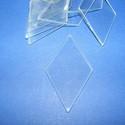 Üveglap-2(rombusz/3db), Üveg, Gyöngy, ékszerkellék, Ékszerkészítés, Üveglap-2(rombusz/3db) Mérete 55x50mm Az ár 3db üveglapra vonatkozik. Többféle formában kapható. 10..., Alkotók boltja