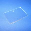 Akril medál alap-10 (46x30 cm/3 db) - téglalap - fúrt - fekvő, Üveg, Gyöngy, ékszerkellék, Ékszerkészítés, Akril medál alap-10 - téglalap - fúrt - fekvő  Mérete: 46x30x2 mm  Az anyag víztiszta (mindkét olda..., Alkotók boltja