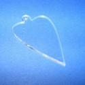 Akril medál alap-19 (50x30 cm/3 db) - szív - akasztós - íves, Üveg, Gyöngy, ékszerkellék, Ékszerkészítés, Akril medál alap-19 - szív - akasztós - íves  Mérete: 50x30x2 mm  Az anyag víztiszta (mindkét oldal..., Alkotók boltja