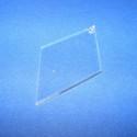 Akril medál alap-21 (55x30 cm/3 db) - rombusz - fúrt, Üveg, Gyöngy, ékszerkellék, Ékszerkészítés, Akril medál alap-21 - rombusz - fúrt  Mérete: 55x30x2 mm  Az anyag víztiszta (mindkét oldala védőfó..., Alkotók boltja