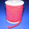 Üreges nylon zsinór - 5 mm (ZSR004-06/1 m) - piros, Fonal, cérna, Ékszerkészítés, Kötés, horgolás, Üreges nylon zsinór  (ZSR004-06) -  piros  Ajánlott karkötők, nyakláncok készítéséhez, de más dekor..., Alkotók boltja