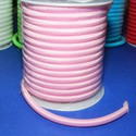 Üreges nylon zsinór - 5 mm (ZSR004-12/1 m) - rózsaszín, Fonal, cérna, Ékszerkészítés, Kötés, horgolás, Üreges nylon zsinór  (ZSR004-12) -  rózsaszín  Ajánlott karkötők, nyakláncok készítéséhez, de más d..., Alkotók boltja