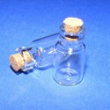 Üveg dugóval (3. minta/2 db) - 15x22 mm, Üveg, Üveg dugóval (3. minta)  Az üvegbe por vagy folyadék tölthető.  Az üveg mérete: 22 mm (26 mm..., Alkotók boltja