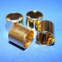 Cső-8/A (13x14 mm/4 db), Gyöngy, ékszerkellék, Egyéb alkatrész, Ékszerkészítés, Szerelékek, Fém köztesek, Cső-8/A - arany színben  Mérete: 13x14 mm (belül 13 mm)  Az ár 4 darab termékre vonatkozik. , Alkotók boltja
