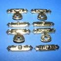 Doboz csat (16. minta/4 db) - fényes arany, Csat, karika, zár, Fémmegmunkálás, ötvösség, Famegmunkálás, Szerelékek, Doboz csat (16. minta) - fényes arany színben  Mérete: 25x5 mm; 25x15 mm (füles rész)  Az ár egy da..., Alkotók boltja