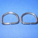 """""""D"""" karika (478. minta/2 db) - 25 mm, , Mindenmás, """"D"""" karika (478. minta) - nikkel színben  Belső méret: 25x20 mm Külső méret: 30x25 mm  Az ár 2 dara..., Alkotók boltja"""