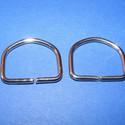 """""""D"""" karika (477. minta/2 db) - 25 mm, , Mindenmás, """"D"""" karika (477. minta) - nikkel színben  Belső méret: 25x20 mm Külső méret: 30x25 mm  Az ár 2 dara..., Alkotók boltja"""