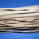 Bőrutánzat zsinór (ZS85/5 db) - homok, Fonal, cérna, Ékszerkészítés, Kötés, horgolás, Bőrutánzat zsinór (ZS85) - homok  Mérete: 3x1 mm/1 m Nyakbavaló alapnak, fonási technikákhoz ajánlo..., Alkotók boltja