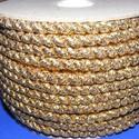 Sodrott zsinór - 5 mm (ZS102/2 m) - arany, Fonal, cérna, Ékszerkészítés, Kötés, horgolás, Sodrott zsinór (ZS102) - arany - lurex  Ajánlott karkötők, nyakláncok készítéséhez, de más dekoráci..., Alkotók boltja
