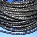 Fonott bőrszíj - 6 mm (4. minta/0,5 m) - fekete, Gyöngy, ékszerkellék, Egyéb alkatrész, Ékszerkészítés, Mindenmás, Fonott bőrszíj (4. minta) - fekete  Valódi bőr alapanyagból készült fonott, hengeres szíj. Átmérője..., Alkotók boltja