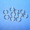 Nemesacél szerelőkarika (STAS-16 minta/10 db) - 7x0,8 mm, Gyöngy, ékszerkellék, Egyéb alkatrész, Ékszerkészítés, Szerelékek, Nemesacél szerelőkarika - STAS-16 - szimpla Nemesacél (304 Stainless Steel) termék  Mérete: 7x0,8 m..., Alkotók boltja