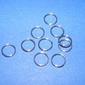 Nemesacél szerelőkarika (STAS-12 minta/10 db) - 8 mm, Gyöngy, ékszerkellék, Egyéb alkatrész, Ékszerkészítés, Szerelékek, Nemesacél szerelőkarika - STAS-12 - dupla Nemesacél (304 Stainless Steel) termék  Mérete:  8x0,6 mm..., Alkotók boltja