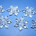 Akril-41 (6 db) - átlátszó hópehely, Gyöngy, ékszerkellék, Műanyag gyöngy, Akril-41 - hópehely - átlátszó  Mérete: 29x6,6 mm Furat mérete: 3 mm  Az ár 6 darab termékre..., Alkotók boltja