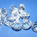 Akril-49 (10 db) - átlátszó kristály, Gyöngy, ékszerkellék, Műanyag gyöngy, Akril-49 - kristály forma - átlátszó  Mérete: 10 mm Furat mérete: 2 mm  Az ár 10 darab termé..., Alkotók boltja