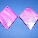 Fúrt kagyló ékszer alap (53. minta/2 db) - lila, Gyöngy, ékszerkellék, Egyéb alkatrész, Fúrt kagyló ékszer alap (53. minta) - lila - rombusz  Az ékszerkészítés dekoratív kiegészí..., Alkotók boltja