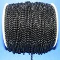Golyós lánc fekete festett (2,4mm/1m), Gyöngy, ékszerkellék, Egyéb alkatrész, Fekete színű lánc(festett). A szem mérete 2,4mm. A feltüntetett ár 1méter láncra vonatkozik...., Alkotók boltja