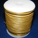 Hasított bőrszíj - 1,5 mm (5. minta/1 m) - arany, , Bőrművesség, Ékszerkészítés, Hasított bőrszíj (5. minta) - arany  Mérete: 1,5 mm átmérőjű  Valódi hasított marhabőrből készült. ..., Alkotók boltja
