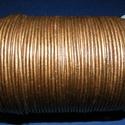 Hasított bőrszíj - 2 mm (14. minta/1 m) - bronz (metál), , Bőrművesség, Ékszerkészítés, Hasított bőrszíj (14. minta) - tekercses - bronz (metál)  Mérete: 2 mm átmérőjű Valódi hasított mar..., Alkotók boltja